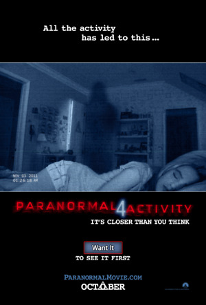 Paranormal Activity 4 (2012) DVD Release Date