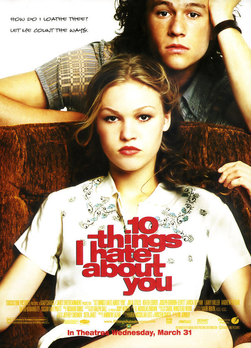10 things i hate about you dvd: