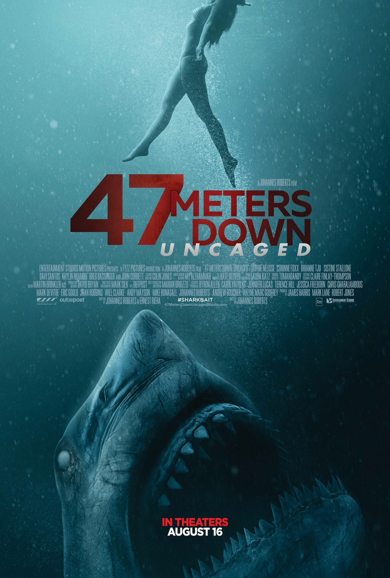 Image result for 47 meters down uncaged movie poster