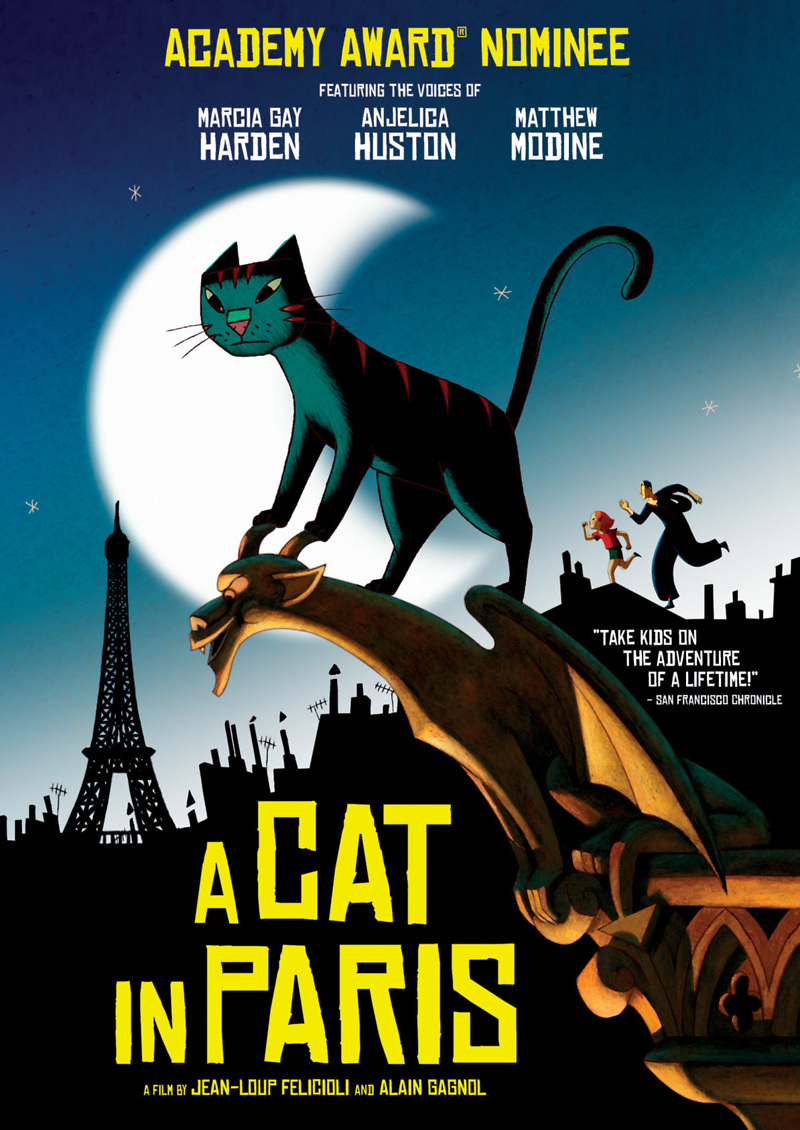 a cat in paris dvd release date october 9 2012. Black Bedroom Furniture Sets. Home Design Ideas