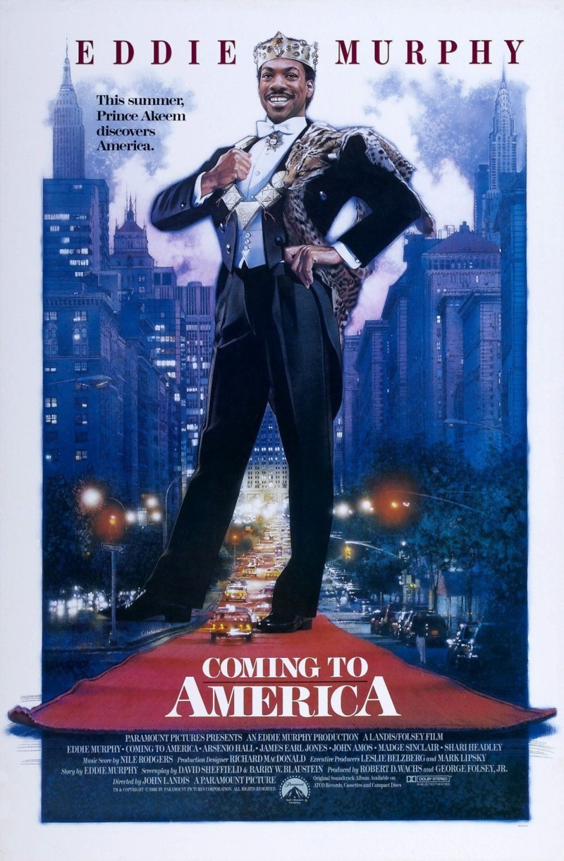 movie coming to america Coming to america (dvd) coming to america casts comedian eddie murphy as pampered african prince akeem, who rebels against an.