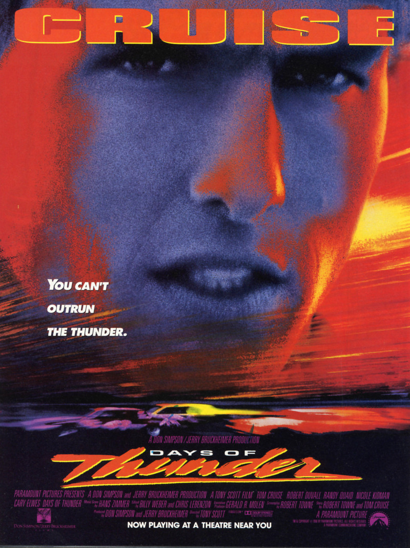 Days Of Thunder Dvd Release Date