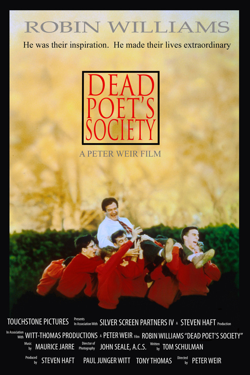 dead poets society film techniques Analysis of neil perry robin williams' character exclaims in the film dead poets society williams portrays passionate english professor john keating.