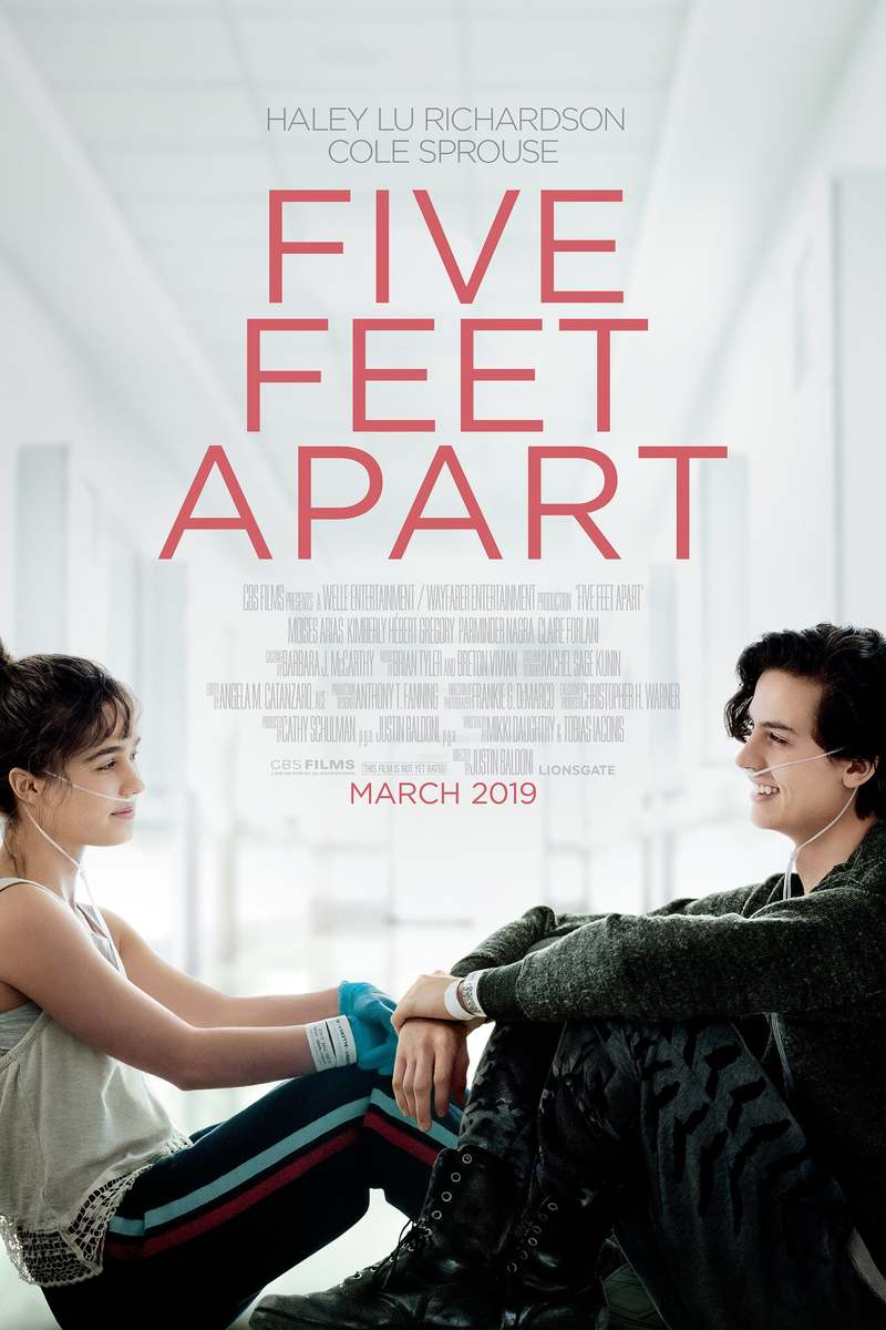 Movie Poster 2019: Five Feet Apart DVD Release Date June 11, 2019