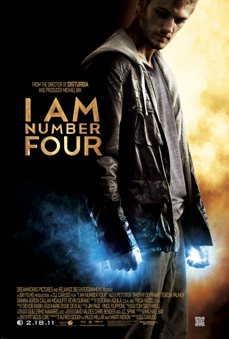 I Am Number Four DVD Release Date May 24, 2011 I Am Number Four Movie Poster