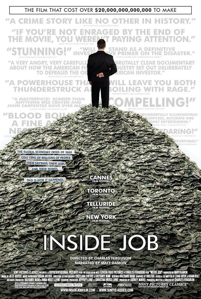 Inside job dvd release date march 8 2011 for Inside movie