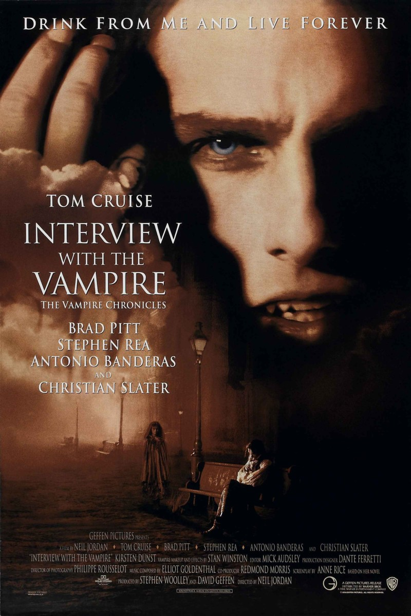 Intrerview with a vampire movie poster
