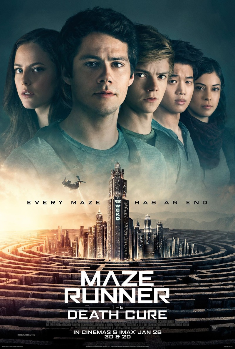 Image result for MAZE RUNNER - THE DEATH CURE ( 2018 ) POSTER