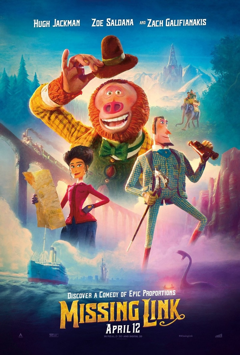 Movie Poster 2019: Missing Link DVD Release Date July 23, 2019