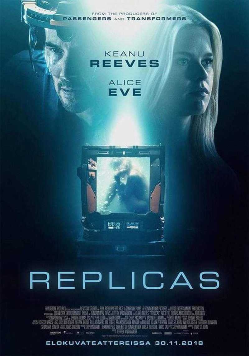 Movie Poster 2019: Replicas DVD Release Date April 16, 2019