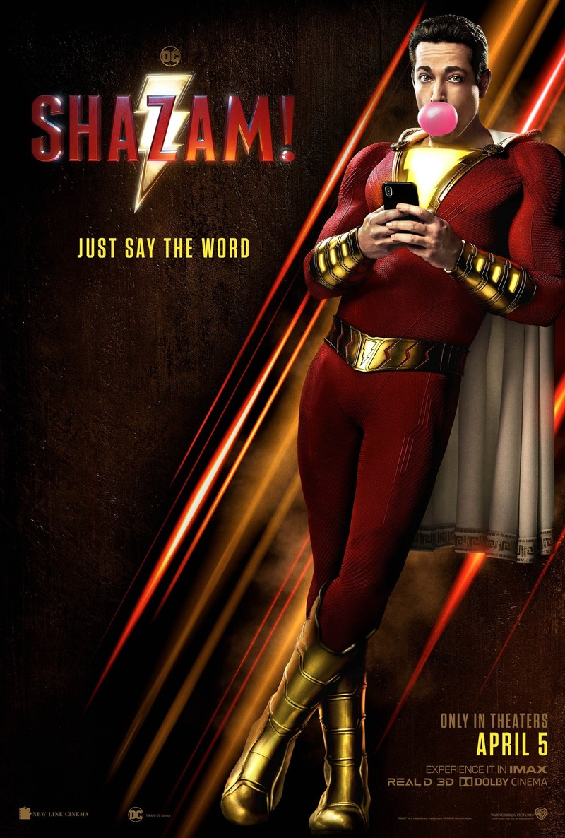 Movie Poster 2019: Shazam! DVD Release Date July 16, 2019