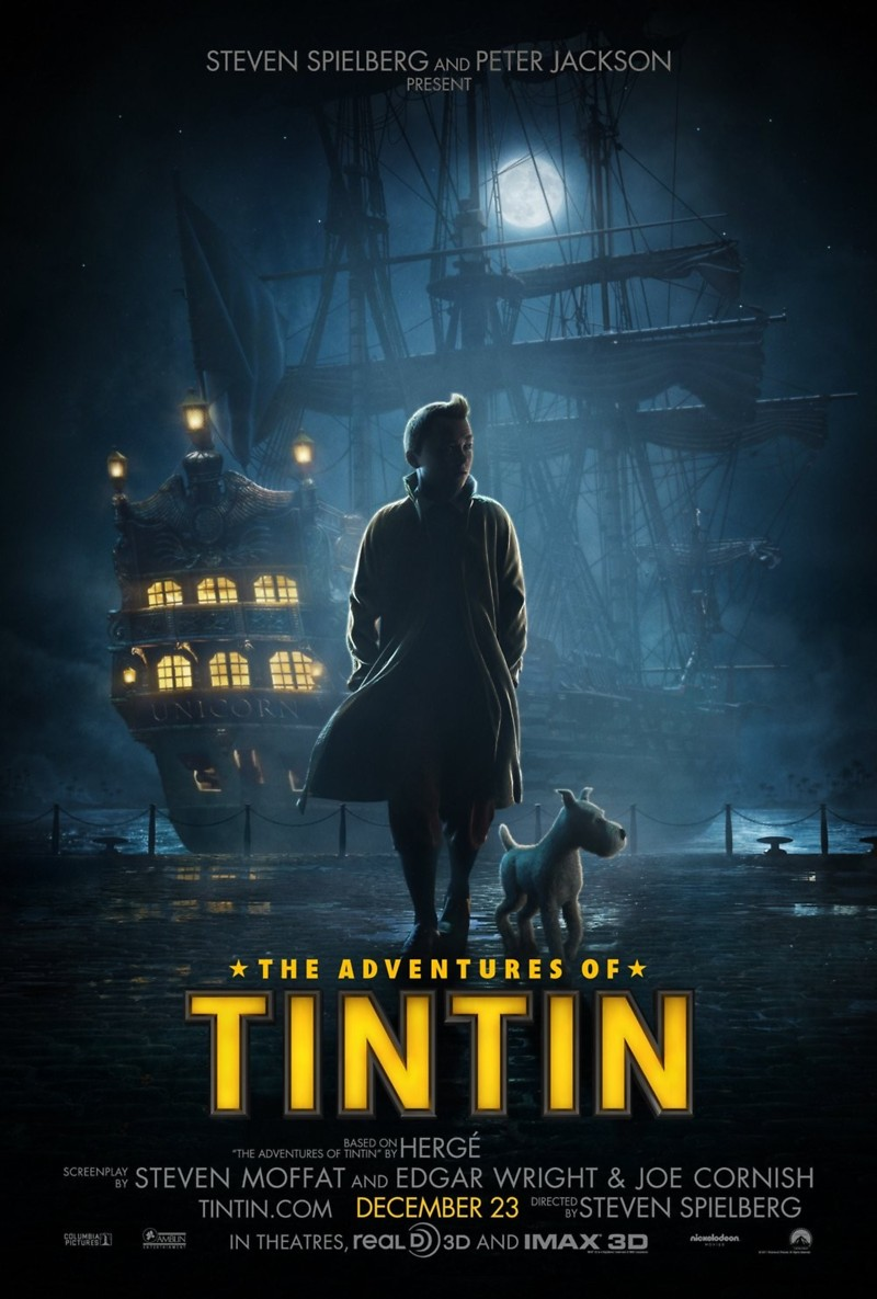 The Adventures of Tintin DVD Release Date March 13, 2012