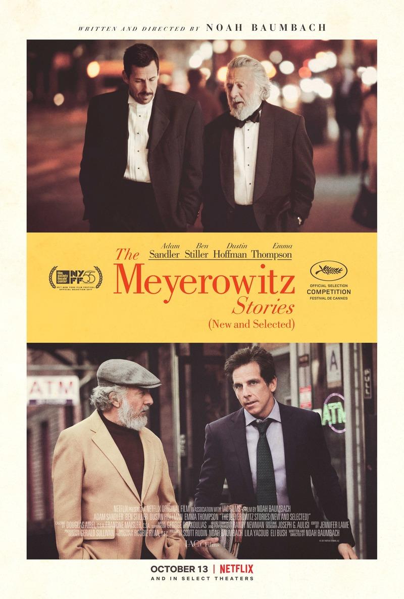 The Meyerowitz Stories... Adam Sandler Movies List