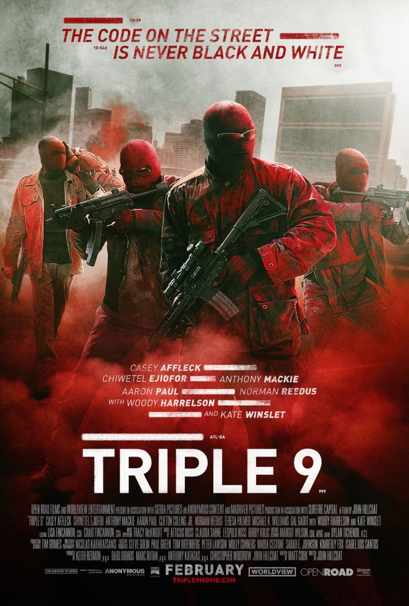 Triple 9 DVD Release Date May 31, 2016