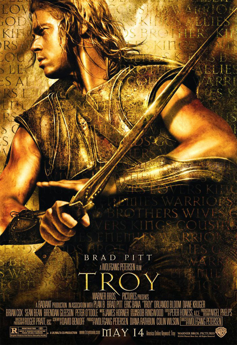 Troy DVD Release Date January 4, 2005 Brad Pitt Movies List