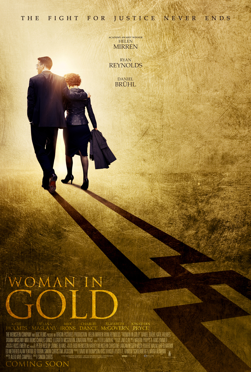 woman in gold design